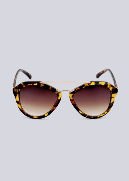 Sonnenbrille mit goldenem Steg, Leo