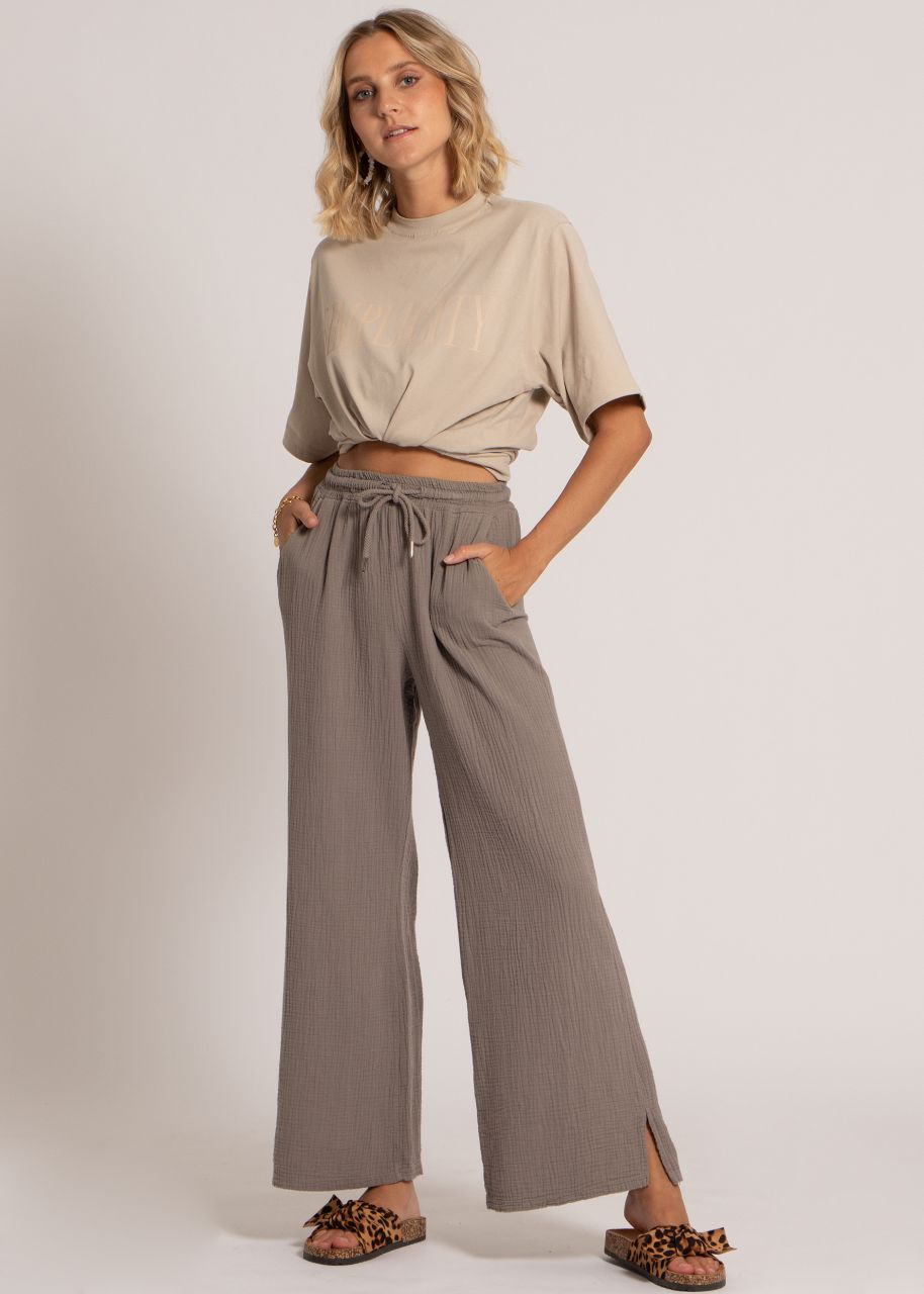 Musselin Pants, taupe