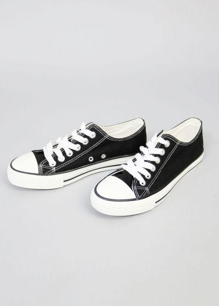 Low Top Sneaker, schwarz