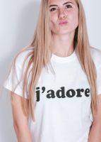 """T-Shirt """"J´adore"""", weiß"""