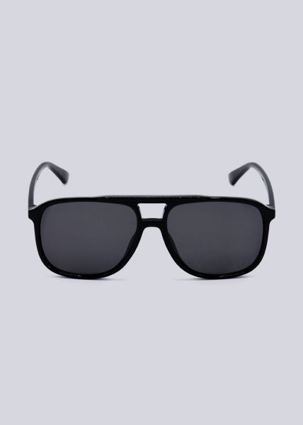 Sonnenbrille mit Brauensteg, schwarz