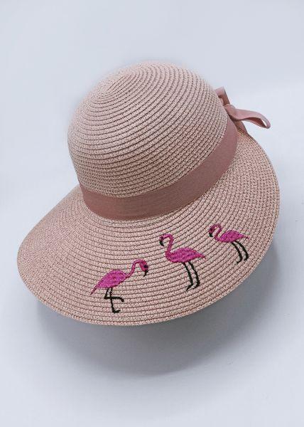 Sonnenhut mit Flamingos, rosa