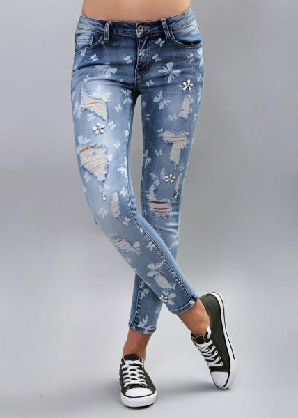 Skinny Jeans mit Print