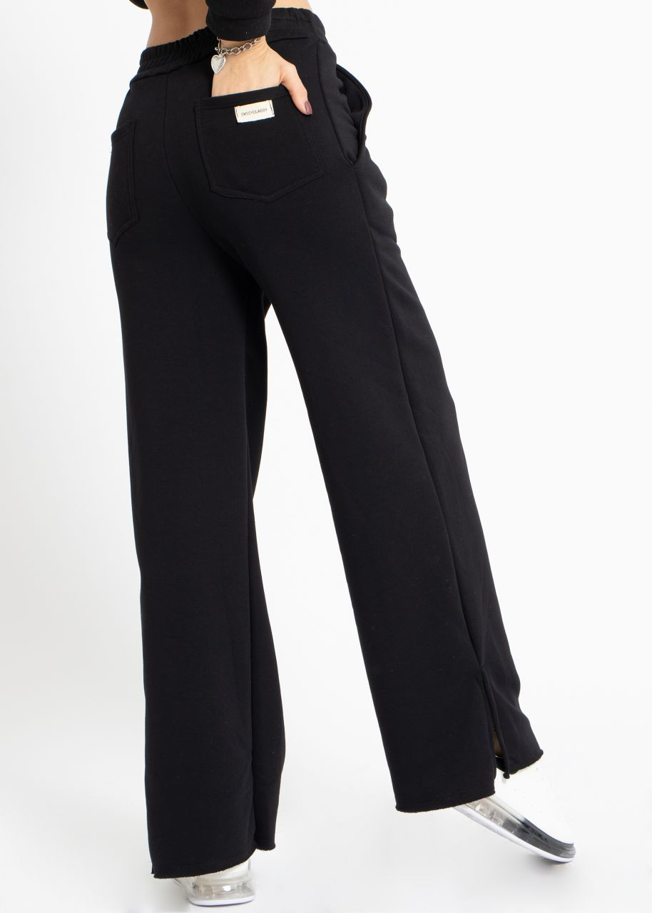 Cosy wide Loungepants, schwarz