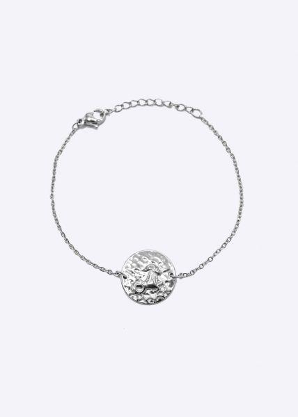 Armkette mit Sternzeichen Steinbock, silber