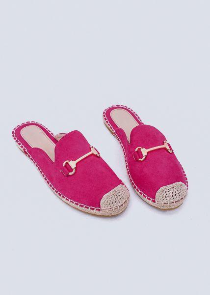 Espadrilles-Schlappen, pink