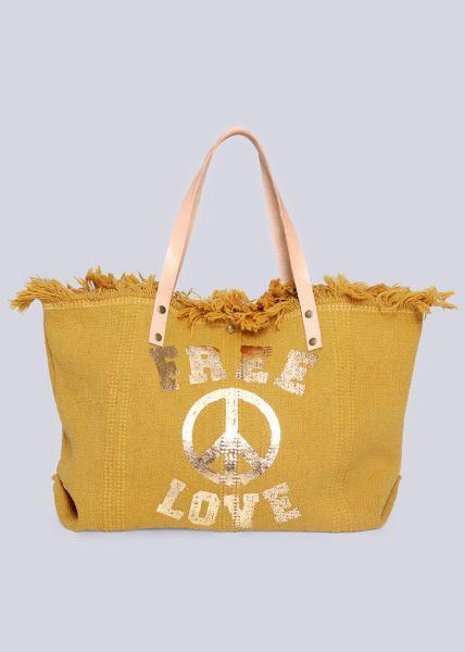 Shopper FREE LOVE, gelb