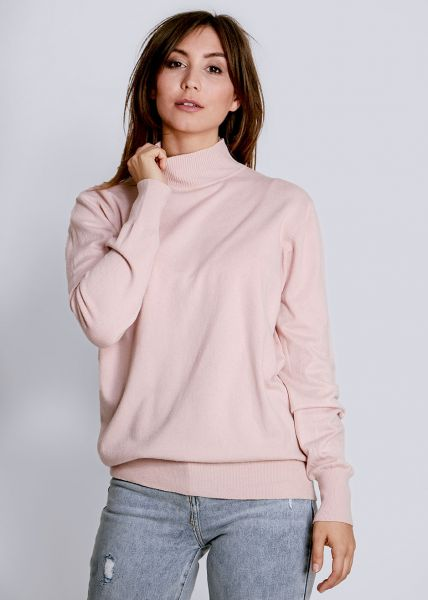 Turtleneck-Pullover, rosa