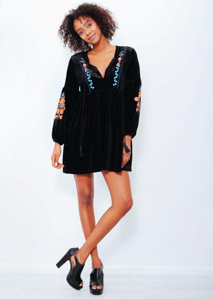 Mini-Hängerchenkleid, schwarz