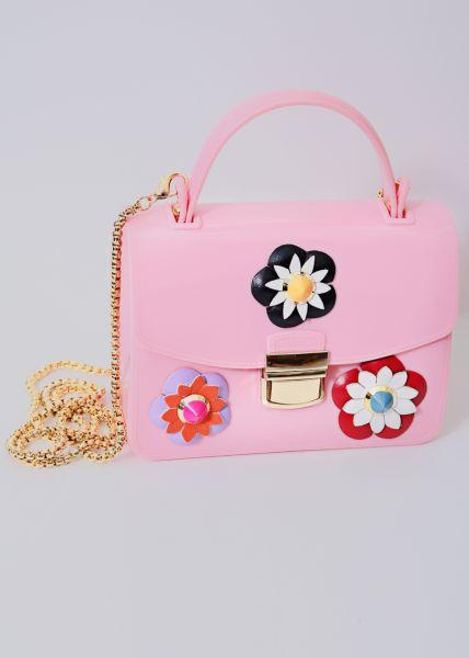 Mini-Bag mit Blüten, rosa