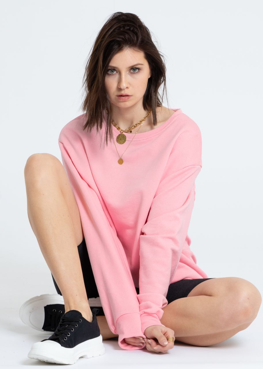 Oversize Sweatshirt, rosa