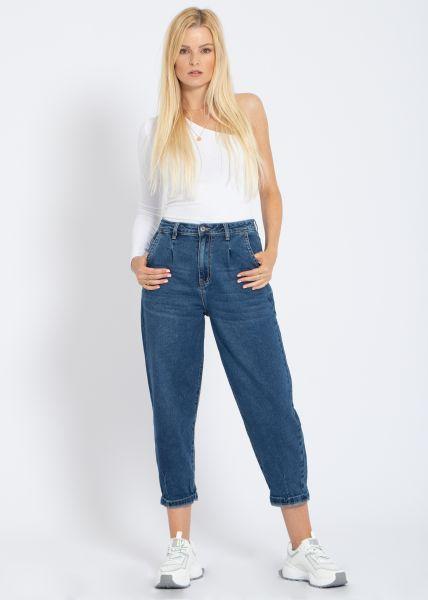 Slouchy-Jeans, blau