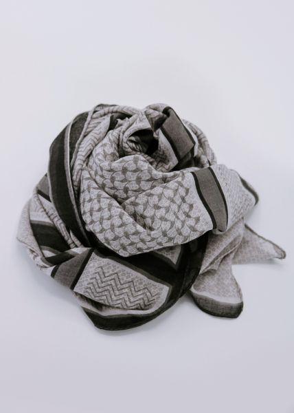Viskose-Schal mit Print, grau