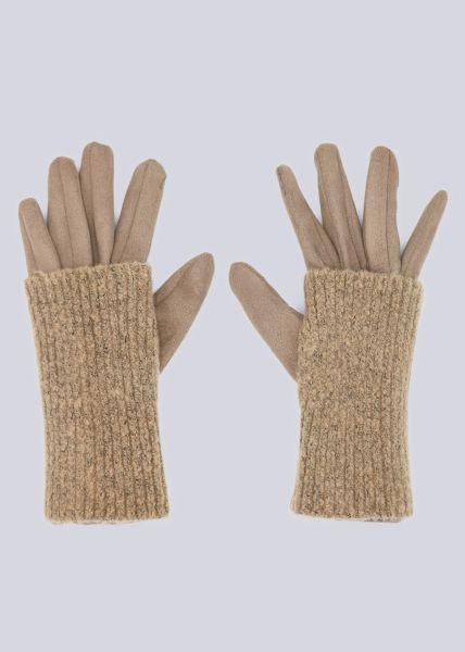 Handschuhe, beige