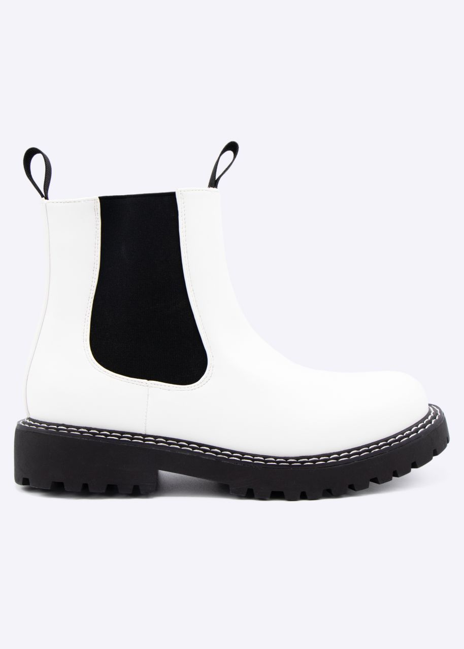 Chelsea-Boots, weiß