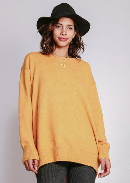 Oversize Pullover, gelb