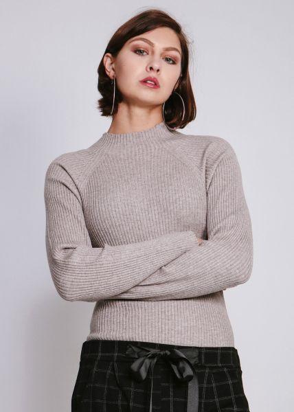 Turtleneck-Pullover, beige