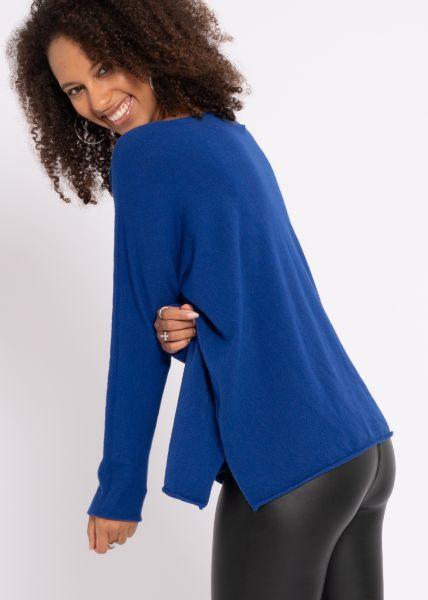 Oversize Pullover, royalblau