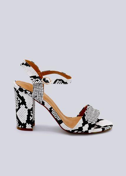 Sandaletten mit Blockabsatz, Snake