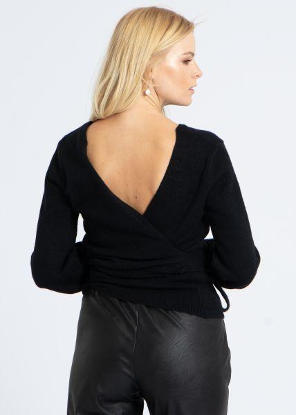 Wickel-Pullover, schwarz
