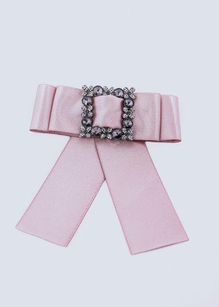 Brosche mit Schleife, rosa