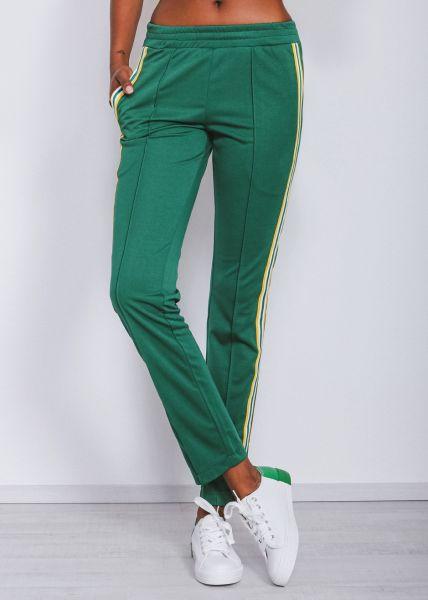 Lounge-Pants mit Streifen, grün