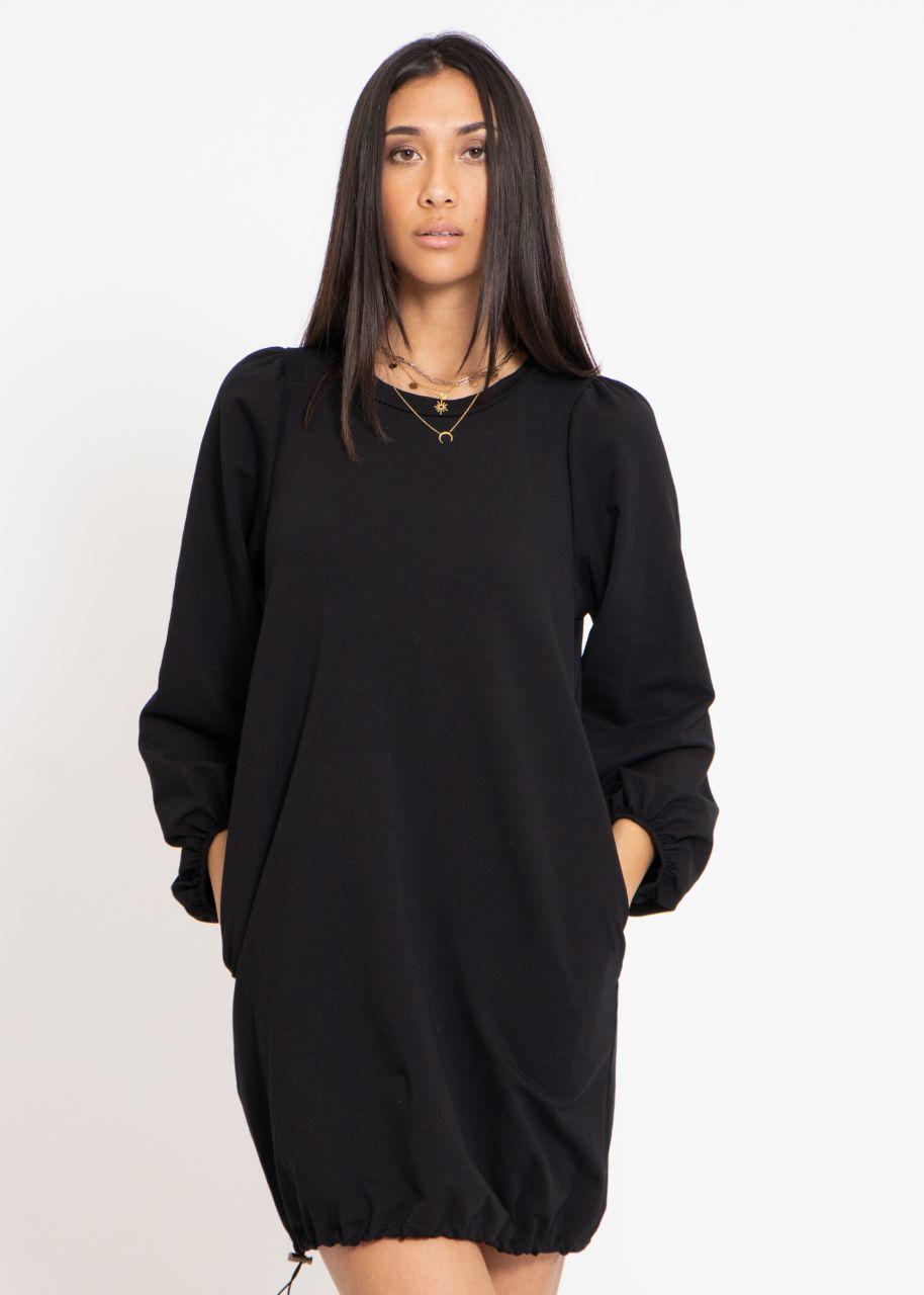 Lounge-Dress mit weiten Ärmeln, schwarz