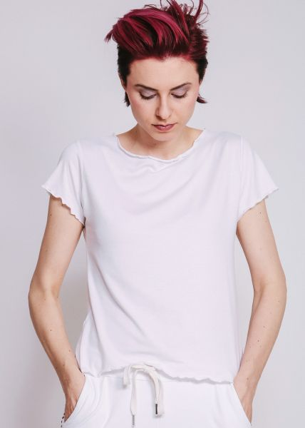 Basic T-Shirt, weiß