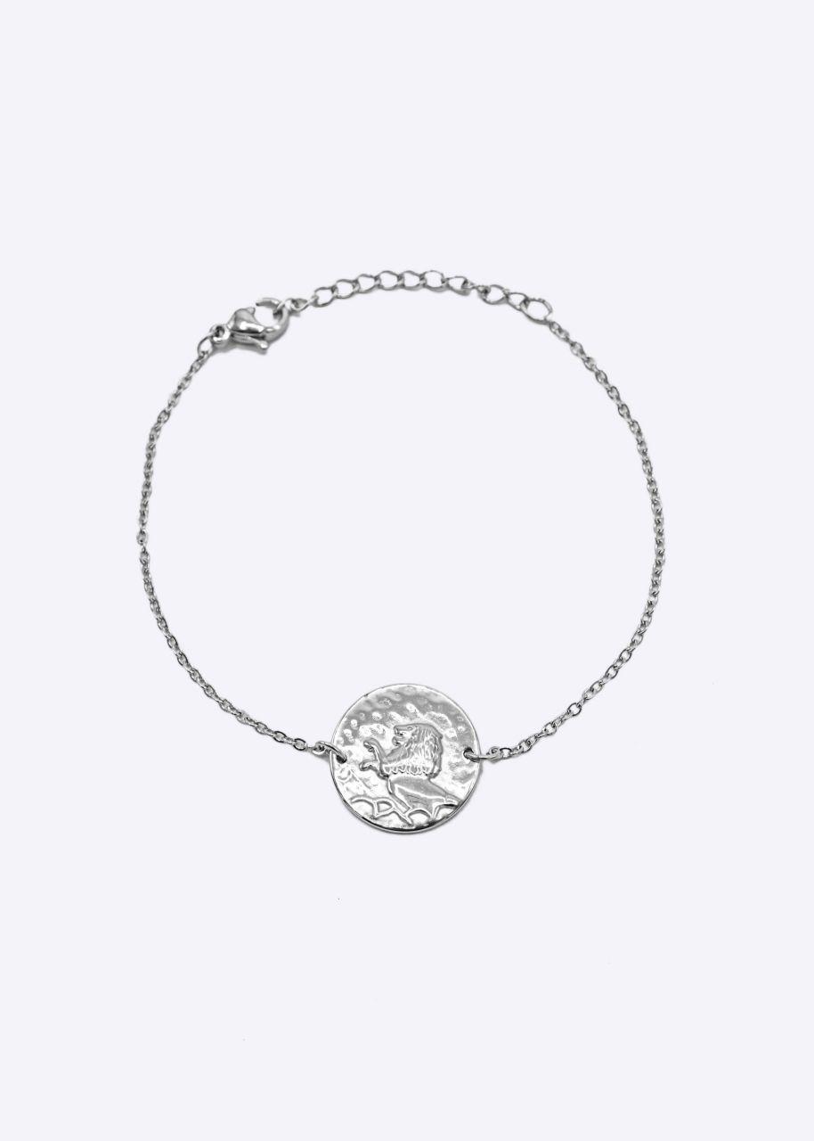 Armkette mit Sternzeichen Löwe, silber