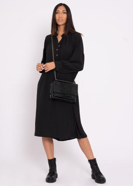 Oversize Maxi-Kleid, schwarz