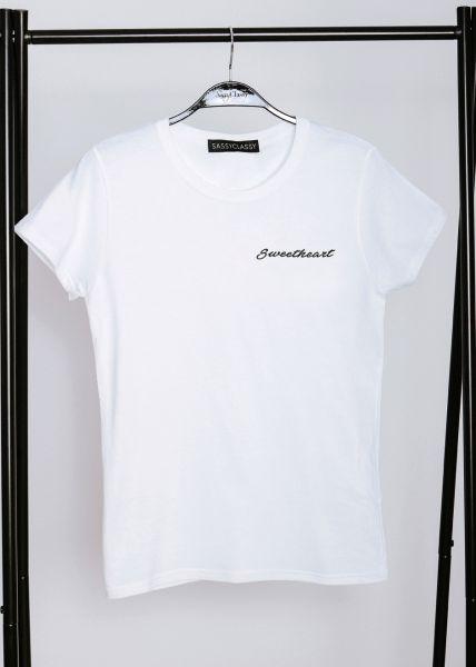 """T-Shirt """"Sweetheart"""", weiß"""