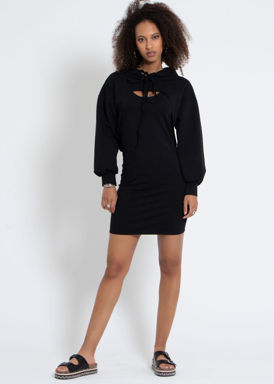 2-teiliges Lounge-Dress, schwarz