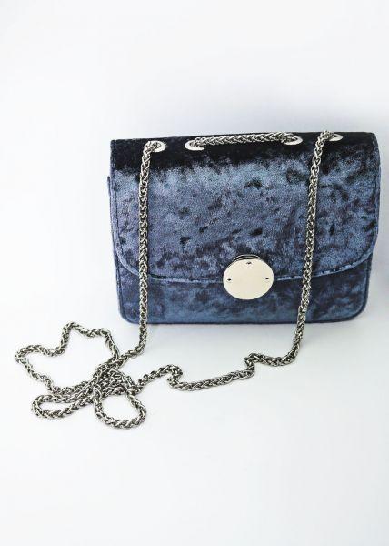 Umschlagtasche aus Samt, blau