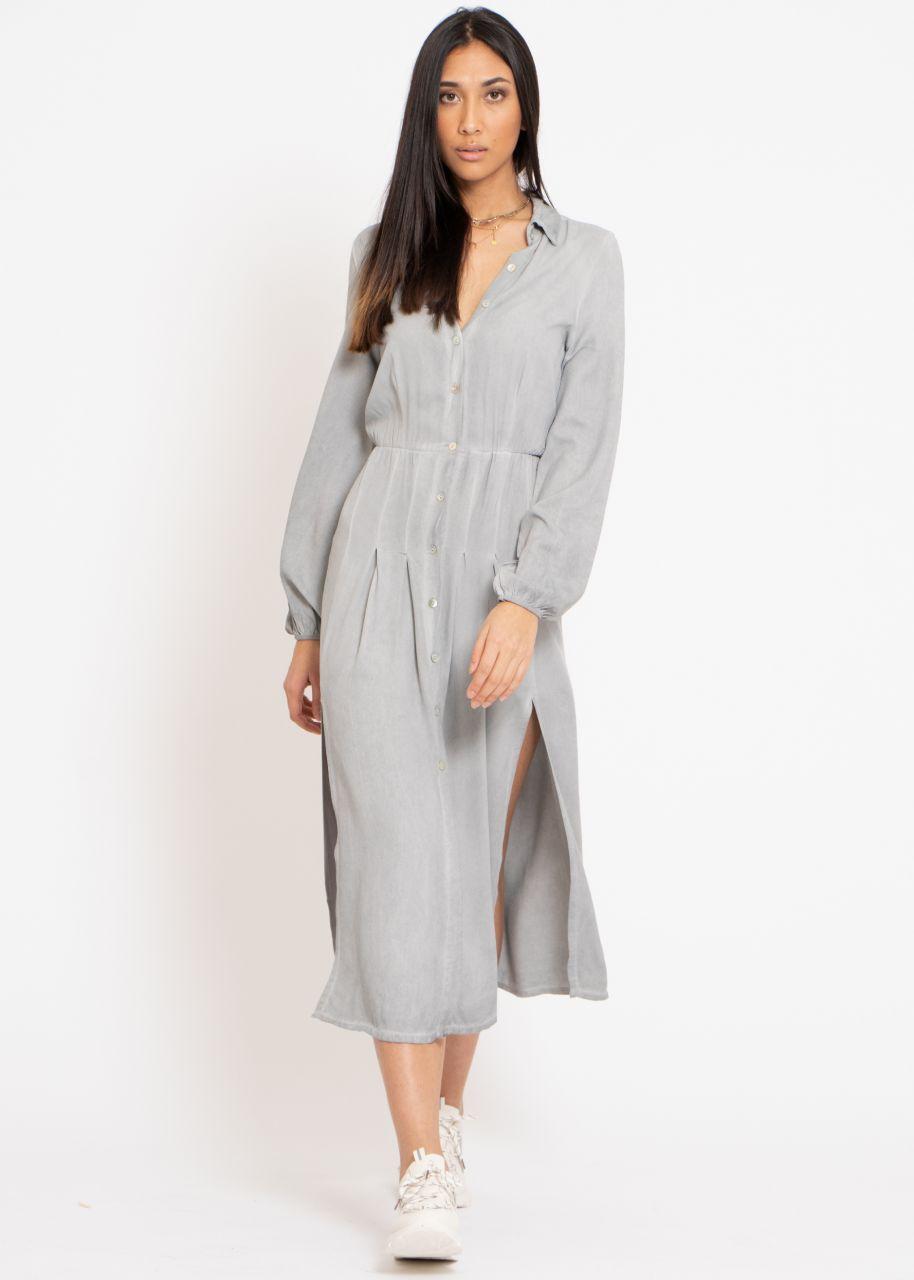 Hemdblusenkleid, grau