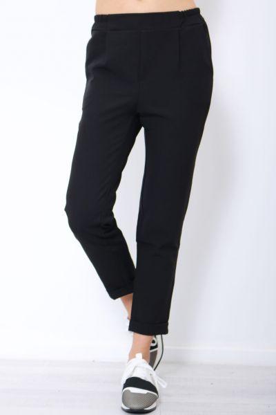 Knöchellange Businesshose, schwarz