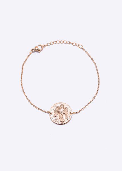 Armkette mit Sternzeichen Jungfrau, roségold