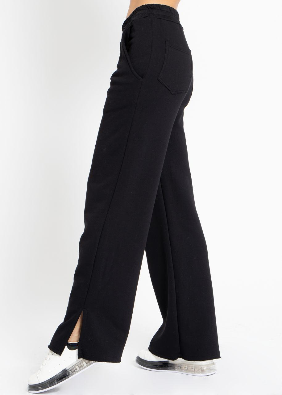 Cosy wide Loungepants, schwarz