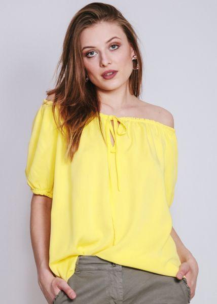 Schulterfreies Blusentop, gelb