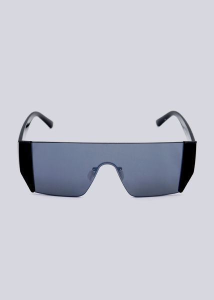Rahmenlose Sonnenbrille mit schwarzen Bügel
