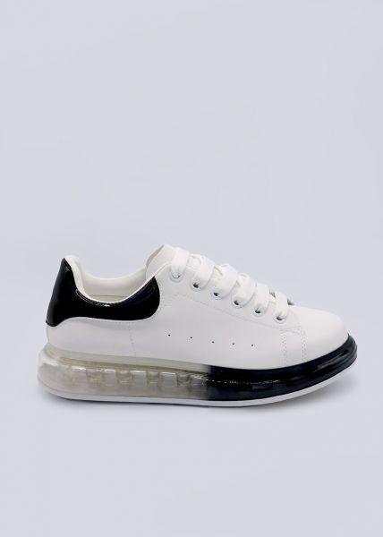 Sneaker mit transparenter Sohle, weiß