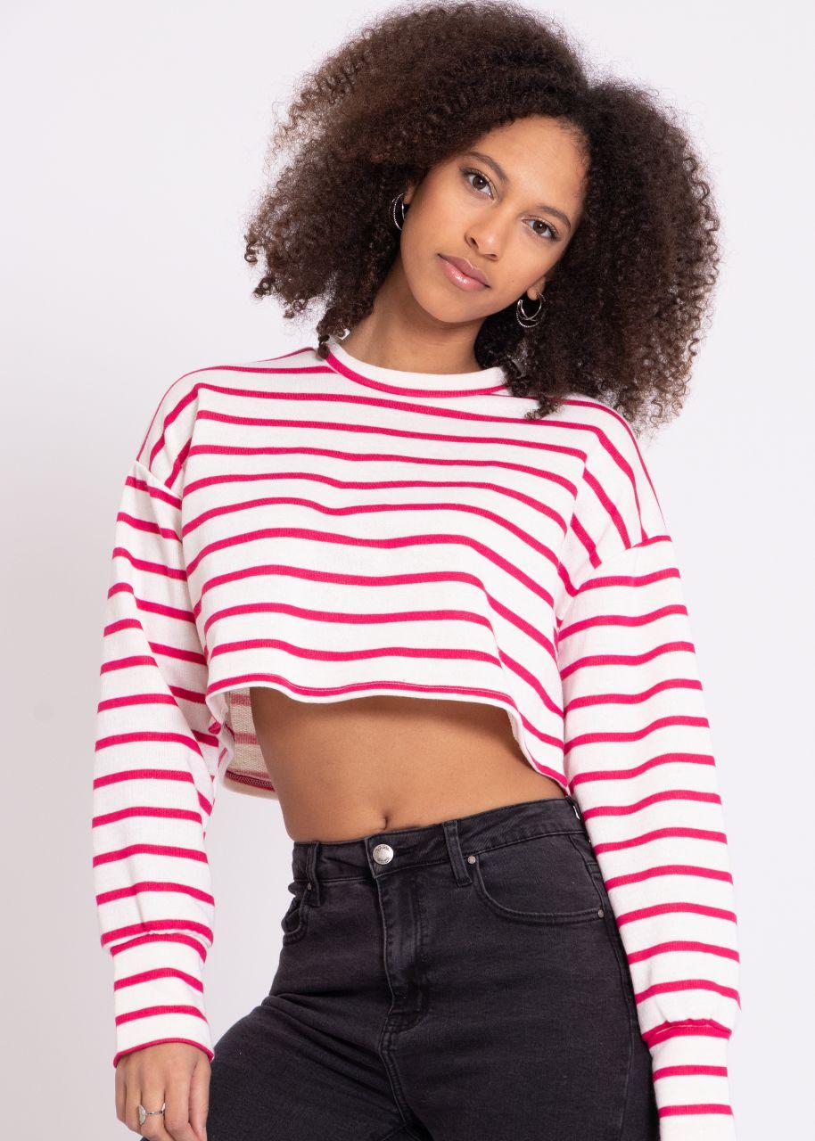 Streifen-Shirt, rot