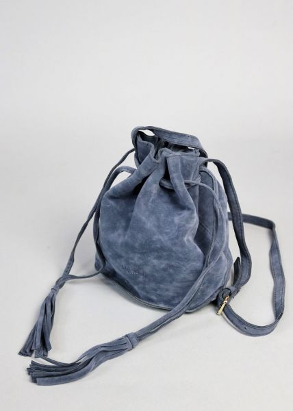 Mini Bucket Bag, blau