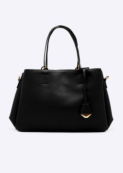 Umhängetasche mit kleiner Tasche, schwarz