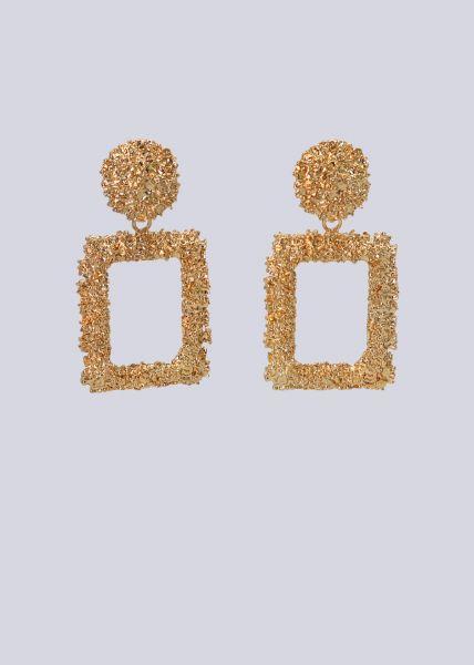 Ohrstecker mit hängender Brosche, gold