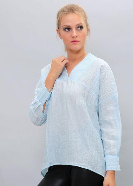 Oversize Hängerchen-Bluse, hellblau