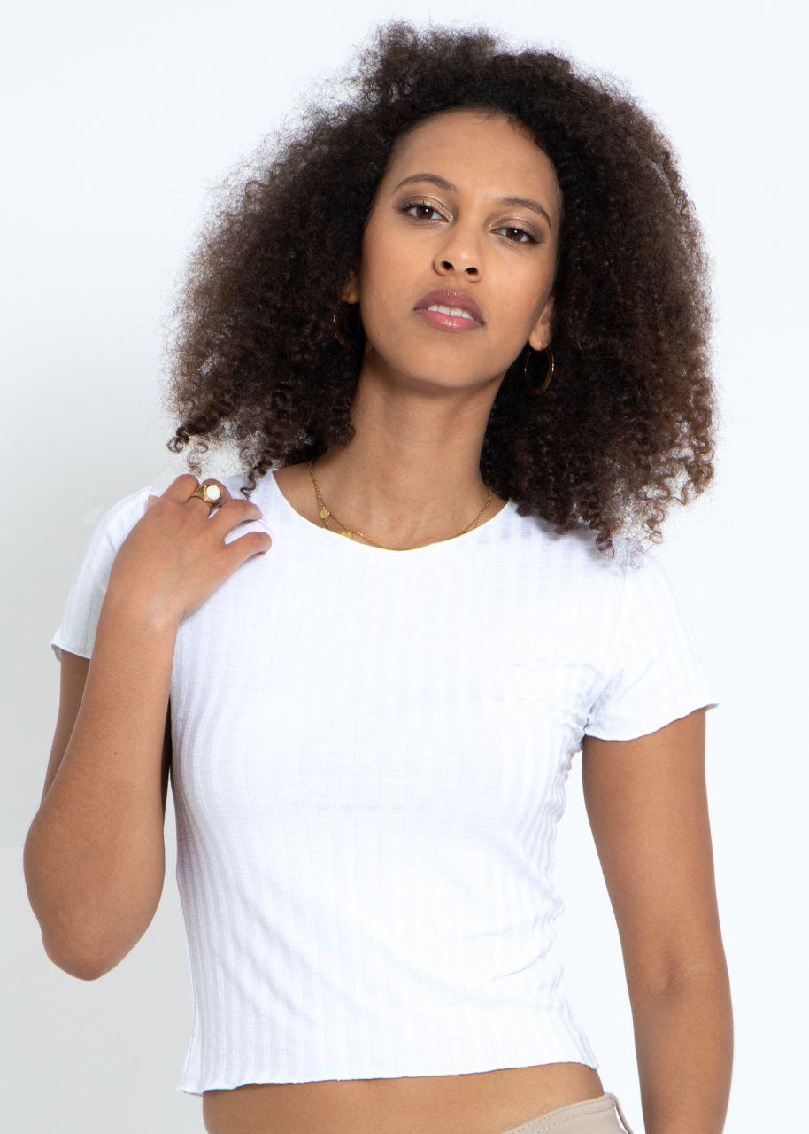 Crop-Shirt, weiß