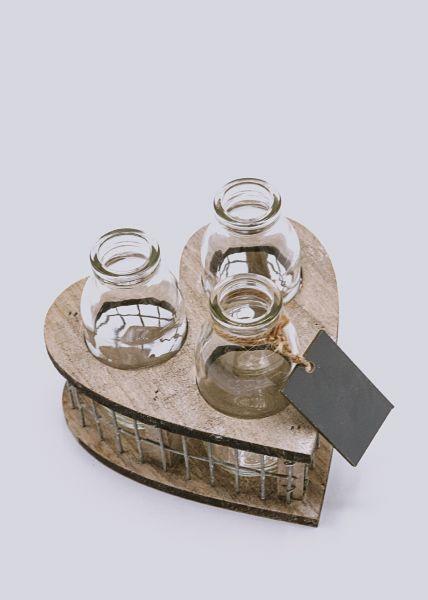 Herz Vasen-Set