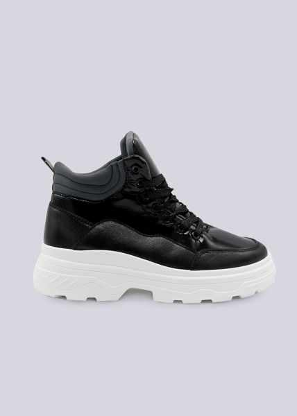 Sneaker-Boots, schwarz