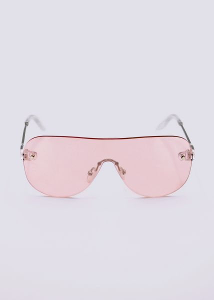 Rahmenlose Sonnenbrille, rosa