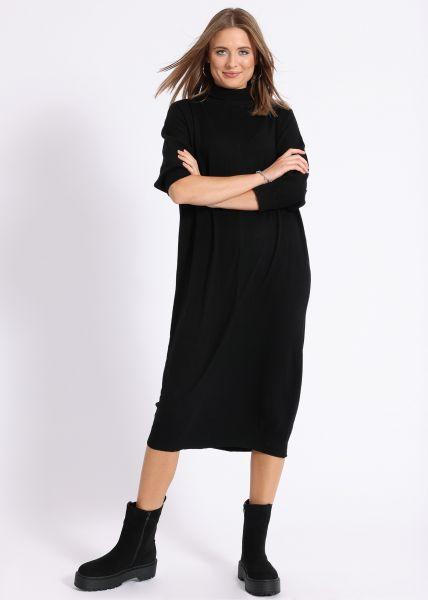 Oversize Pulloverkleid, schwarz